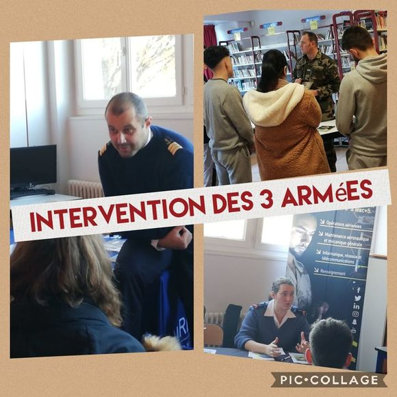 INTERVENTION DES 3 ARMEES